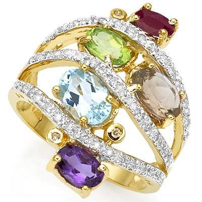 5 Stones & Diamond Ring