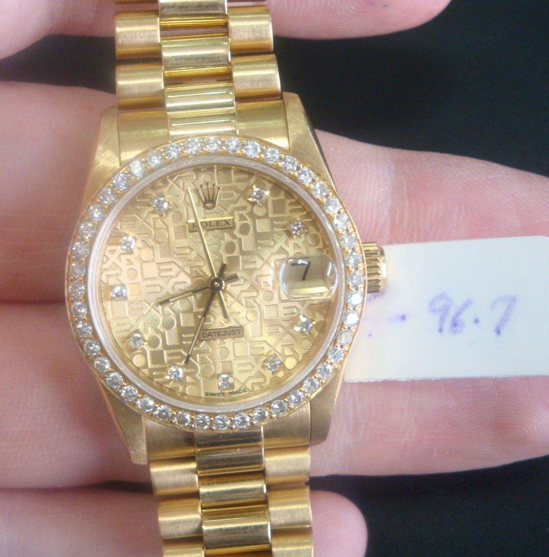 Authentic Rolex Watch -  Diamond & 18k Solid Gold