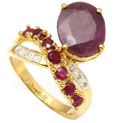 Stunning 5.50 ct African Ruby & Diamond Ring