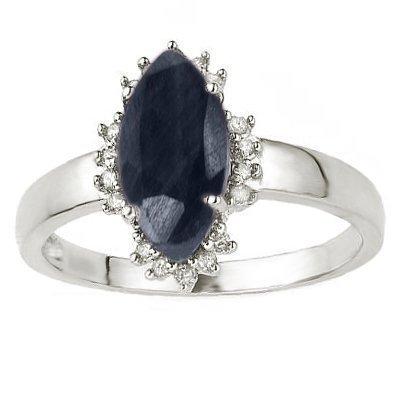 Diamond & Black Sapphire Ring - 2