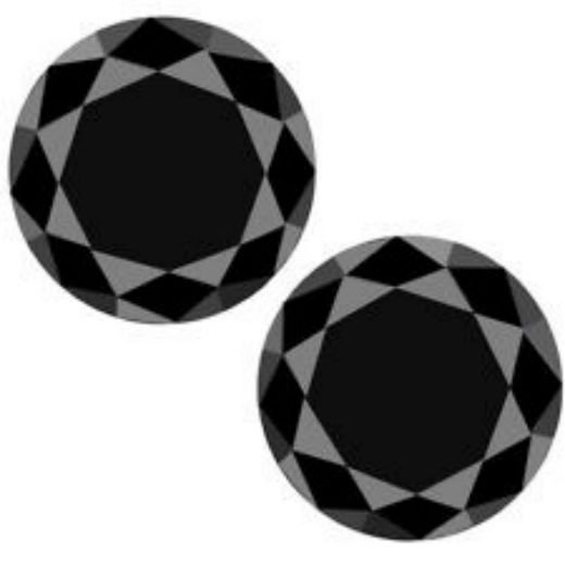 Black Diamond Pair 5.00 Ct