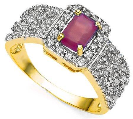 Genuine Ruby & Diamond Ring