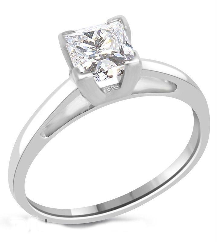 1.02 ct Princess Diamond Solitaire Ring G/SI1