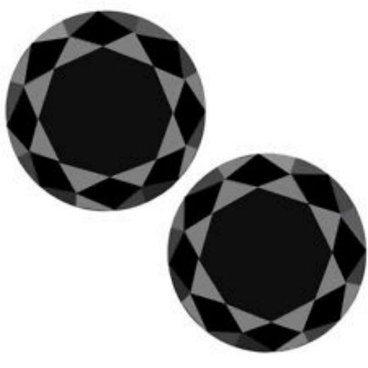 Black Diamond Pair 5.00 Ct