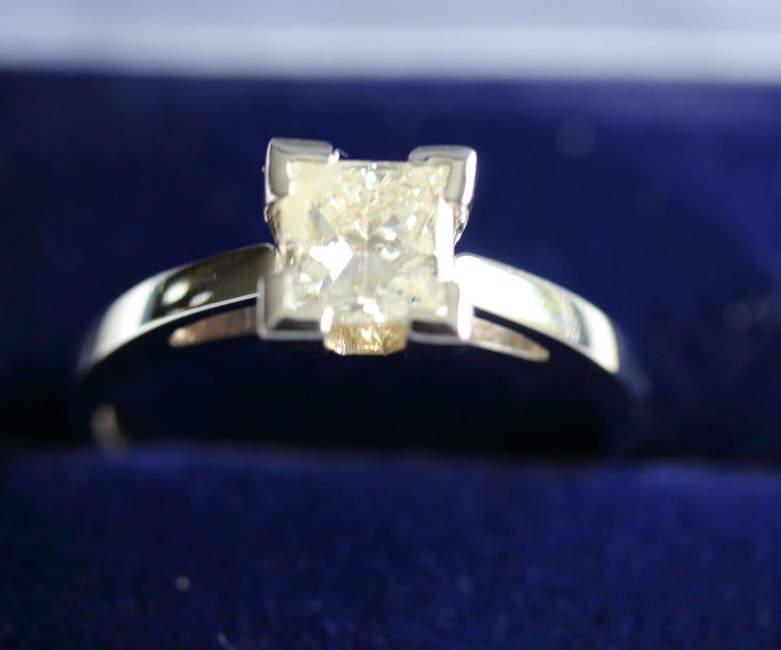 1.02 Ct Princess Diamond Solitaire Ring - SI1