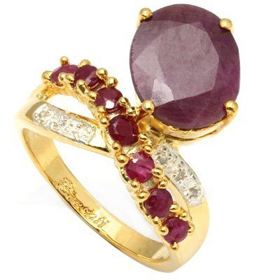 Stunning 5.50 Ct African Ruby & Diamond Ring