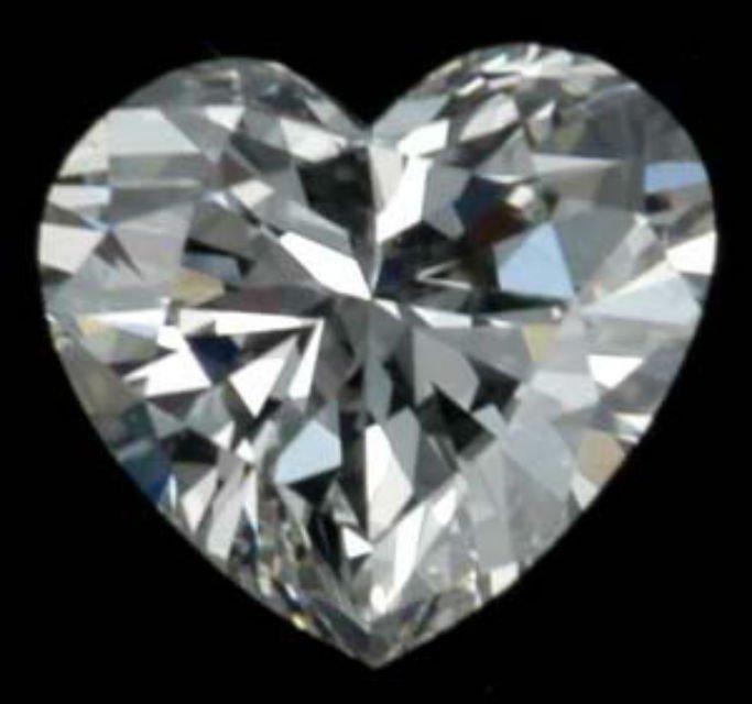 Heart Shape Diamond 1.02 CT - SI1/D - EGL