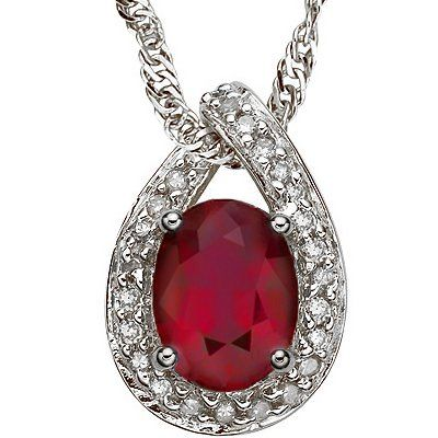1.37 ct African Ruby & solid Gold Pendant