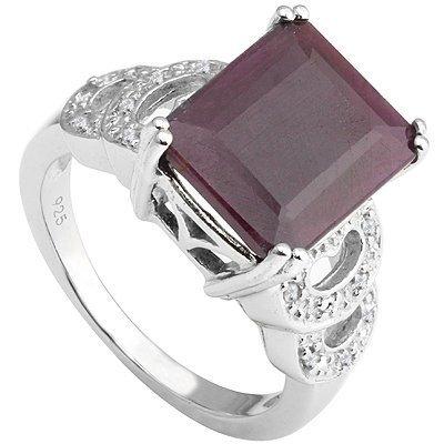 Genuine Ruby 6.25 ct & Diamond Ring