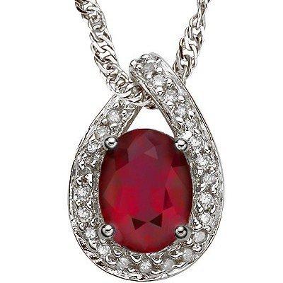 Afraican Ruby 2.00 ct & Diamond pendant