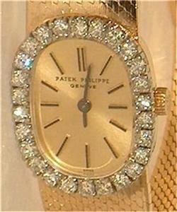 Patek Philippe Diamond Bezel 18K Solid Gold Watch