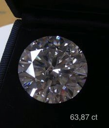 Diamond 63.87 ct -D/VVS2 - GIA