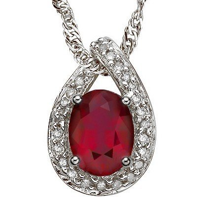 Ruby 2.00 ct & Diamond pendant