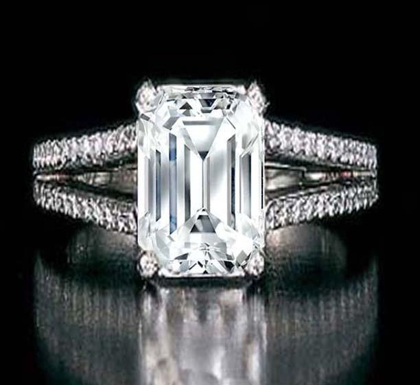 Stunning Diamond Ring 2.03 ct - D/SI2 - GIA