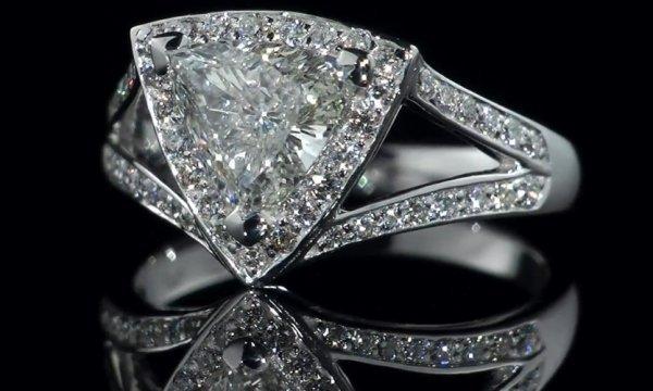 Diamond Ring 1.07 ct - D/SI1 -GIA