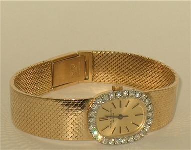 Patek Philippe Diamond Bezel 18K Solid Gold Watch