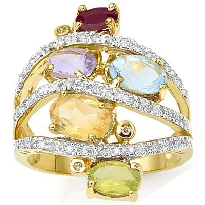 5 Stones & Diamond Ring