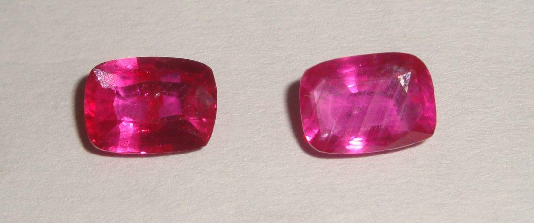Natural Ruby Pair 3.12 carats - no Treatment