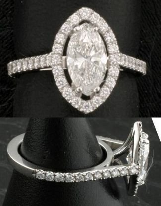 Diamond 1.30 carats & Solid Gold Ring