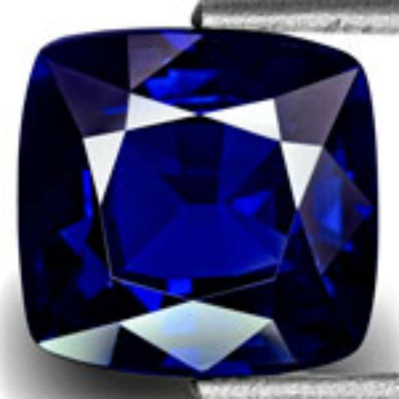 Flawless Burma Sapphire 3.58 carats - Gubelin Certified
