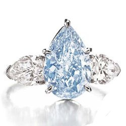 Natural Fancy Blue Diamond Ring - GIA