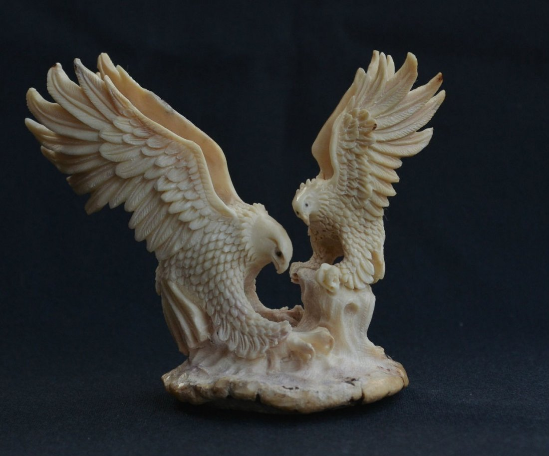 Hand carved mamma Eagle & baby Eagle Carving
