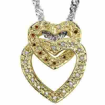 Diamond & Solid Gold Pendant