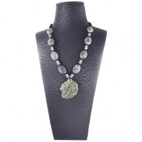 Natural Jade/jadite Hand Made Necklace