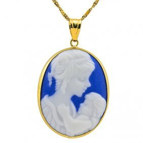 Stunning Cameo Solid Gold Pendant
