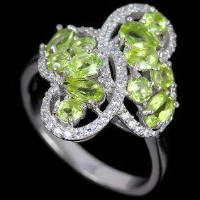 Natural Peridot Ring