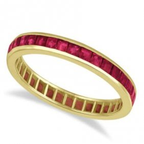 Natural Ruby & Solid Gold Eternity Band