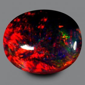 Natural Harlequin Black Opal 2.070 Carats