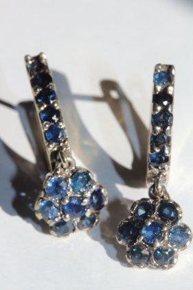Genuine Sapphire Earings 3.70 Carats
