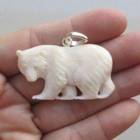 Hand Carved Bear Pendant