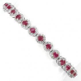 Natural Red Ruby Bracelet