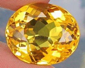 Natural Yellow Citrine 14.07 Carats - Vvs