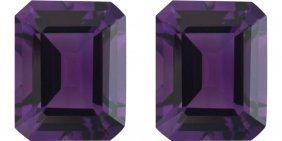 Natural Purple Amethyst Pair 10.25 Carats - Vvs