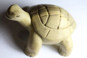 Hand Carved Wooden Tortoise