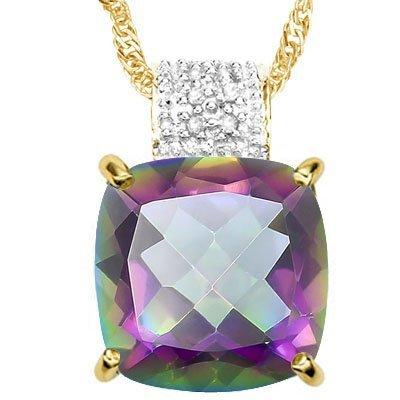 Natural Mystic Gem & Diamond 6.50 cts Pendant