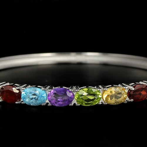 Natural Gemstone Bangle - 2