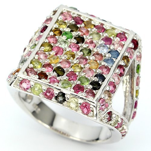 Natural Multi Color Fancy Tourmaline Ring