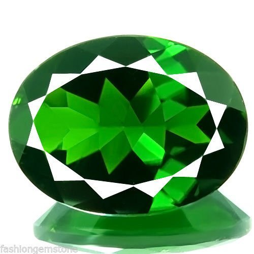 Natural Green Chrome Diopside 3.80 Carats - VVS