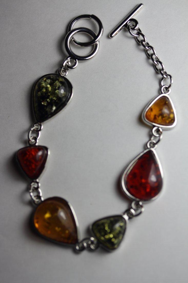 Colorful Amber Bracelet