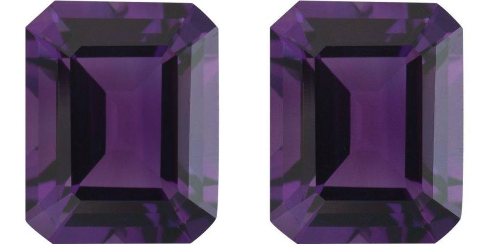 Natural Purple Amethyst Pair 10.25 Carats - VVS