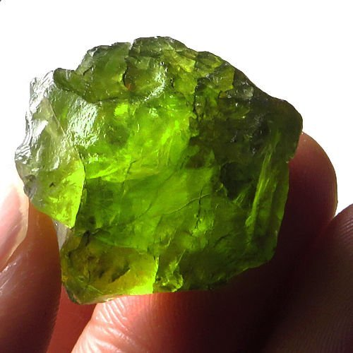 Natural Peridot Gemstone Rough 63.75 Carats