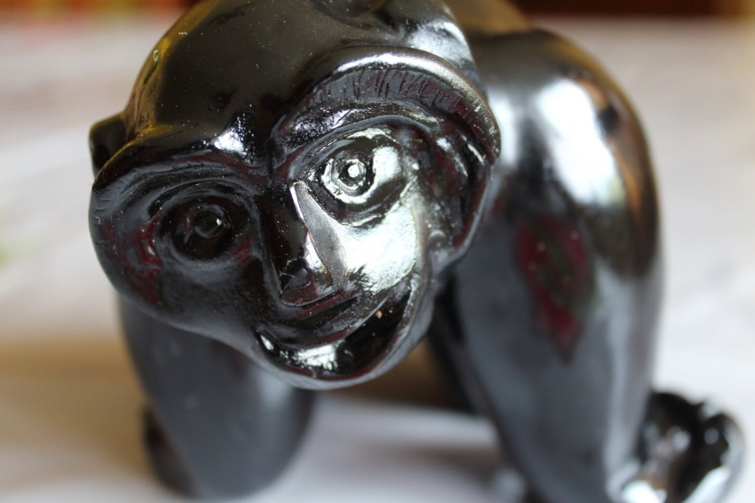 Hand Carved Inuit Monkey