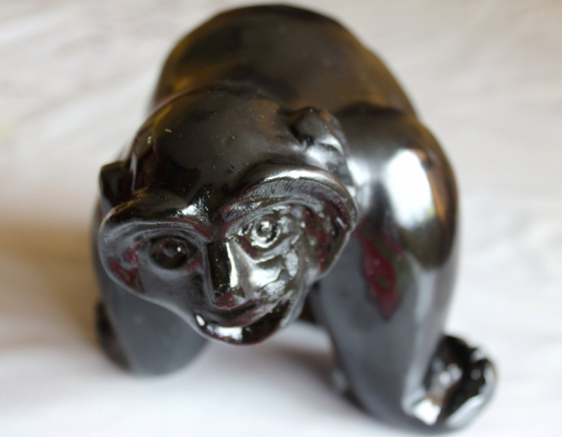 Hand Carved Inuit Monkey - 2