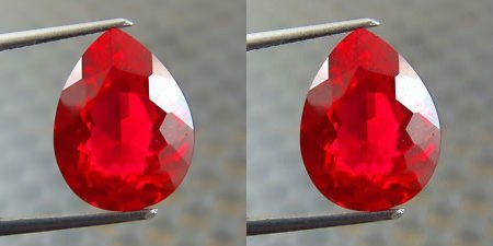 Natural Pigeon Blood Ruby Pair 0.81 Carats