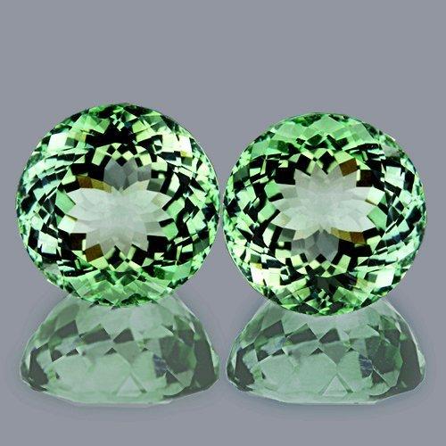 Natural Green Amethyst Pair 9.50 mm - Flawless