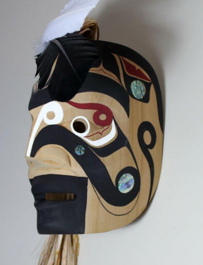West Coast Native Makah Warrior Mask - 3